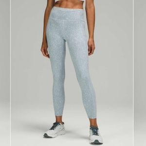 """Lululemon Fast and Free High Rise Tight 25"""" Wsh"""